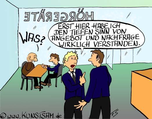 Cartoon über Angebot Und Nachfrage